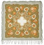 Павловопосадский платок «Янтарный вечер» (Арт. 1222-2)