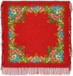 Павловопосадский платок «Солнечное лето» (Арт. 1340-4)