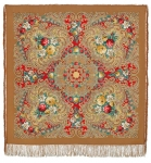 Павловопосадский платок «Тайна сердца» (Арт. 1437-2)