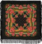 Павловопосадский платок «Маков цвет» (Арт. 155-18)
