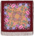 Павловопосадский платок «Цветомания» (Арт. 1439-7)
