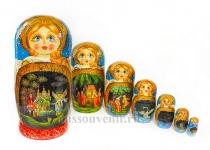 Матрешка «Русские сказки» 7 мест (Арт. MF-7-04)
