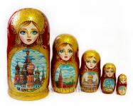 Матрешка «Москва» 5 мест (Арт. M-5-19)