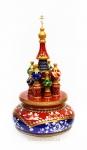 Деревянный музыкальный Храм Василия Блаженного (Арт.Cer-55-1m)
